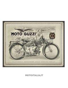 TARGA100TH NOSTALGIC ART COLOR1 ORIGINALE MOTO GUZZI