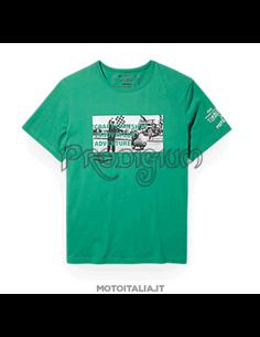 T-SHIRT UOMO FRONT GRAPHIC COL. VERDE MOTO GUZZI X TIMBERLAND®