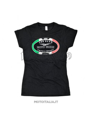 "T-SHIRT NERA MOTO GUZZI ""THE CLAN"