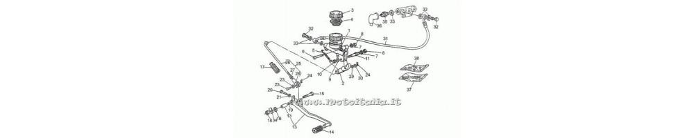 Kit Riparazione POMPA FRENO POSTERIORE Guzzi 1000 SP II 1978-1983 850 T5 1983-1988 750 S3 1975 1976 1000 California II 1982-1994
